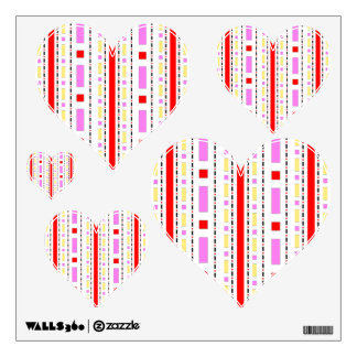 Dots & Dashes in Pink, Red & Cream Wall Sticker