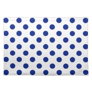DOTS - DEEP BLUE (a polka dot design) ~ Cloth Place Mat