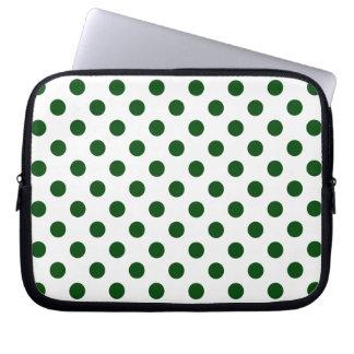 DOTS - DEEP GREEN (a polka dot design) ~ Laptop Sleeve