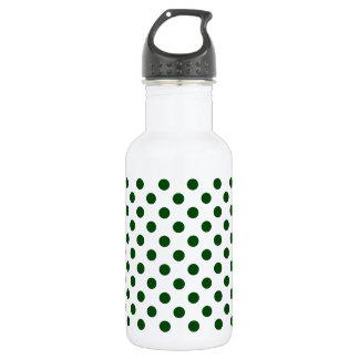 DOTS - DEEP GREEN (a polka dot design) ~ 18oz Water Bottle