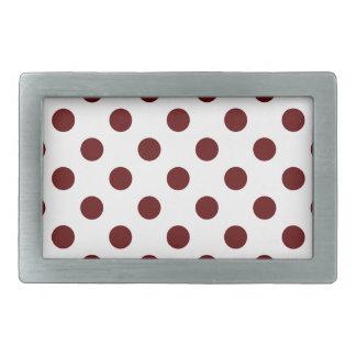 DOTS - DEEP RED (a polka dot design) ~ Rectangular Belt Buckle
