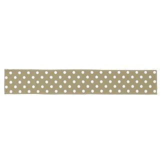 Dots Design Dark Tan Big Long Table Runner