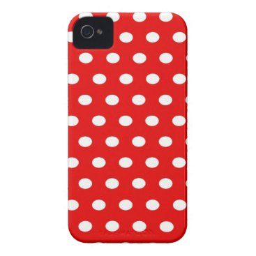 Professional Business dots, elegant, red and white, funny Case-Mate iPhone 4 case
