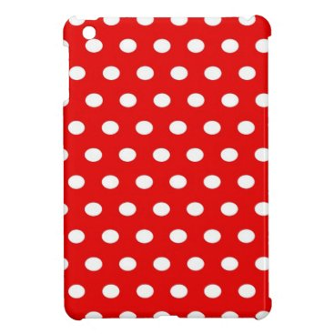 Professional Business dots, elegant, red and white, funny iPad mini cover