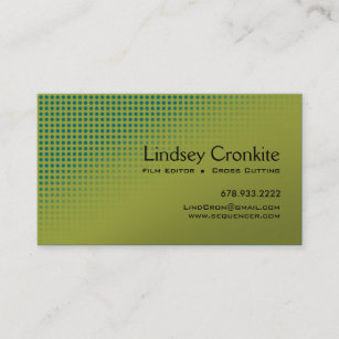 Entertainment industry business cards zazzle dots film editor hollywood entertainment industry business card colourmoves