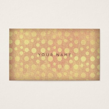Professional Business Dots Golden Peach Vip Business Card