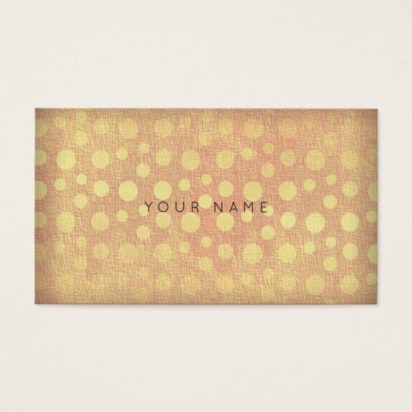 Dots Golden Peach Vip Business Card