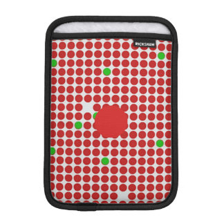 Dots Horizontal Graphical Pattern Red White Green iPad Mini Sleeve