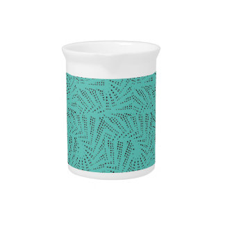 Dots in repeat pattern design drink pitcher