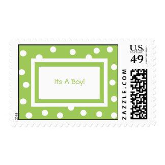 Dots n Dots Custom Postage (lime)