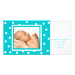 Dots n Dots (teal) Personalized Photo Card