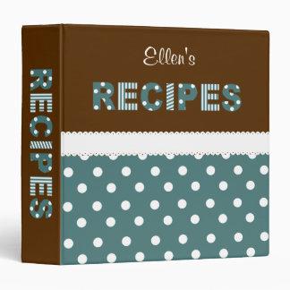 Dots n Eyelet Recipe Binder