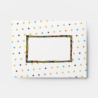 Dots 'n' Stripes A2 Notecard Envelope