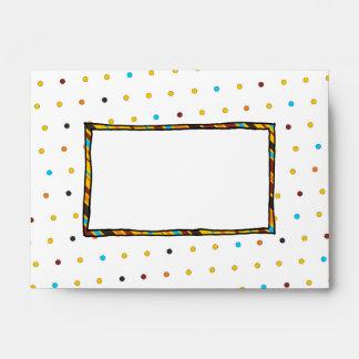 Dots 'n' Stripes A6 Invitation Envelope