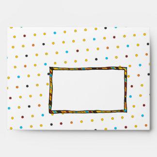 Dots 'n' Stripes A7 Greeting Card Envelope