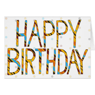 Dots 'n' Stripes Happy Birthday Card