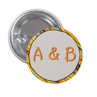 Dots 'n' Stripes Monogram Button