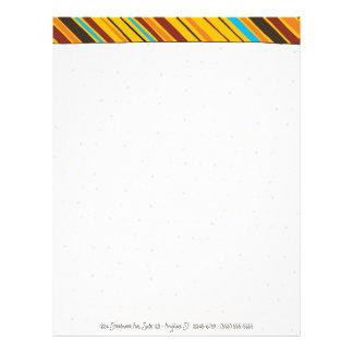 Dots 'n' Stripes Personal Letterhead