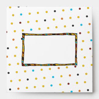 Dots 'n' Stripes Square Envelopes