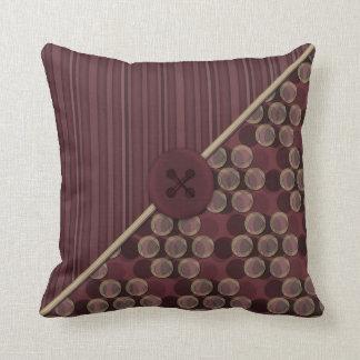 Dots No Com - Merlot Pillow