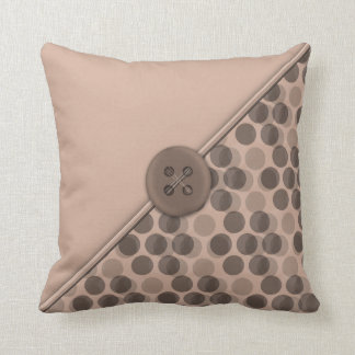 Dots No Com - Taupe Throw Pillow