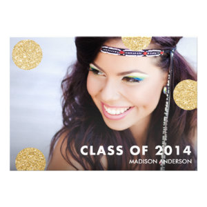 Dots of Glitter | 2014 Graduation Party Invitation