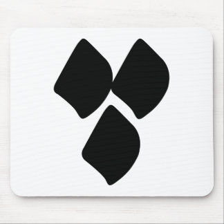 Dots of Love - Black Mouse Pad