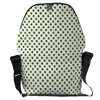 DOTS - OLIVE (a polka dot design) ~ Courier Bags
