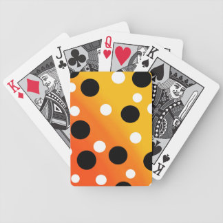 Dots On Blended OrangeToYellow Bicycle Playing Cards