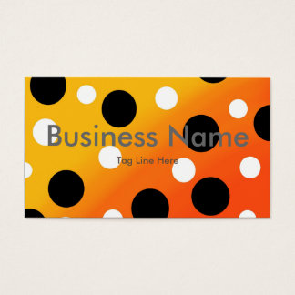 Dots On Blended OrangeToYellow Business Card