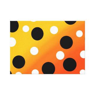 Dots On Blended OrangeToYellow Canvas Print