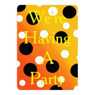 Dots On Blended OrangeToYellow Card