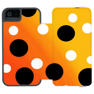 Dots On Blended OrangeToYellow iPhone SE/5/5s Wallet Case