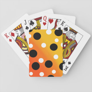 Dots On Blended OrangeToYellow Playing Cards