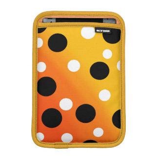 Dots On Blended OrangeToYellow Sleeve For iPad Mini