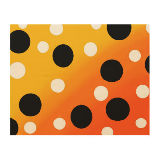 Dots On Blended OrangeToYellow Wood Wall Art
