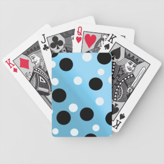 Dots On Blended SkyBlue Bicycle Playing Cards