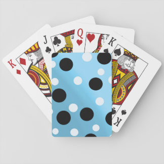 Dots On Blended SkyBlue Playing Cards