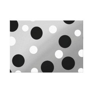 Dots On Blending Canvas Print