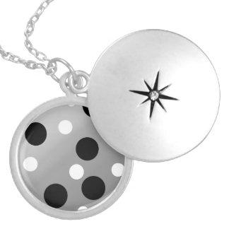 Dots On Blending Locket Necklace