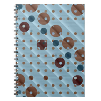 Dots on Blue Notebook