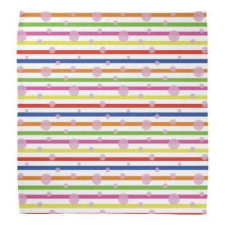 Dots ON Stripe Bandana