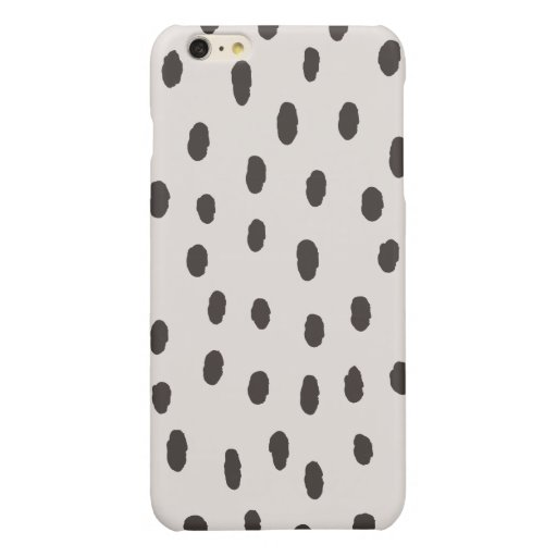 dots pattern glossy iPhone 6 plus case
