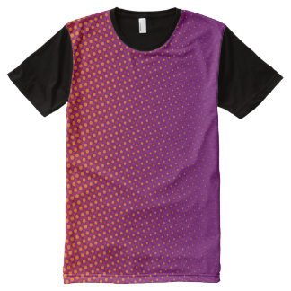 Dots Pattern violet orange red + your ideas All-Over Print T-shirt