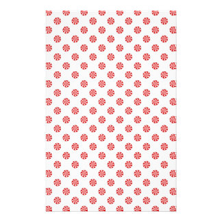 DOTS - PEPPERMINT CANDY (a polka dot design) ~ Stationery Paper