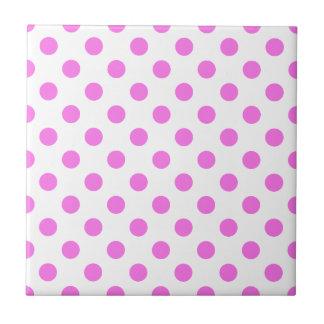 DOTS - PINK (a polka dot design) ~ Tile