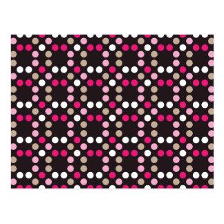 Dots - Pink Postcard