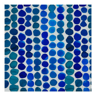 Dots Poster in Blue