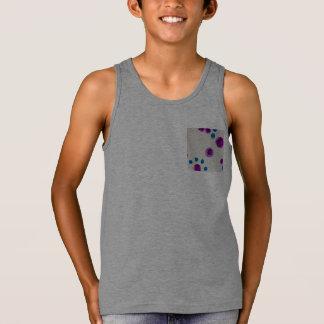 dots purple blue tank top