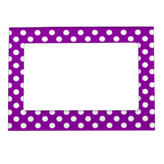 Dots- Purple/White Magnetic Frame
